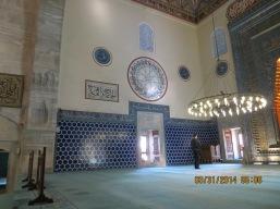 Iznik tiles adorn the walls.