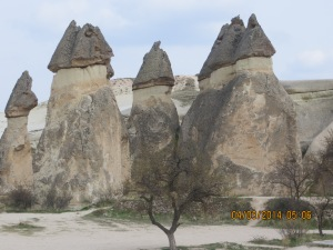 Mushroom shaped 'fairy -chimneys'