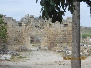 Entrance at  Perge Ruins