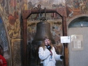 """Olga from the Volga"" beside the banished bell."