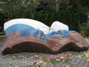 Yeltsin's Grave marker