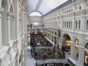 Interior of GUM department store