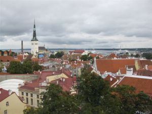 A view of Tallinn  from the Upper 'Old' town.