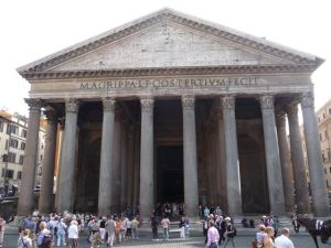 The Pantheon - built as a temple to the gods.