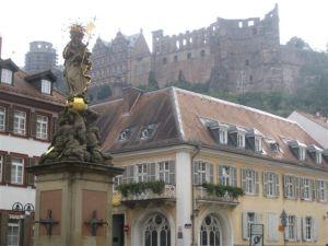 Heidelberg castle in the background.