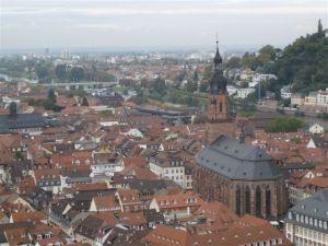 View of Heidelberg from Heidelberg castle.