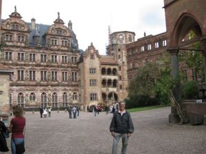 The courtyard at Heidelberg Castle.