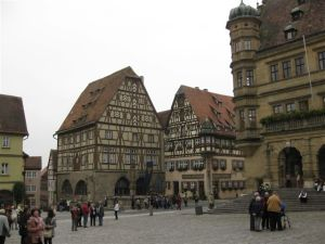 The fairy tale city of Rothenburg.